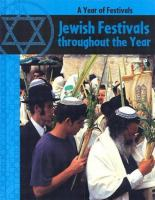 Jewish Festivals Though the Year