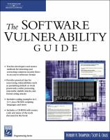 The Software Vulnerability Guide