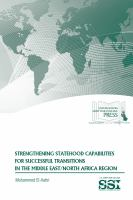 Strengthening Statehood Capabilities for Successful Transitions in the Middle East/North Africa Region