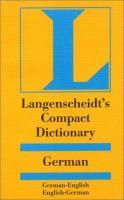 Langenscheidt's Compact German Dictionary