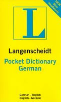 Langenscheidt Pocket German Dictionary