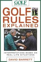 Golf Magazine Golf Rules Explained