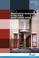 Performance Measurement in the Dutch Social Rented Sector