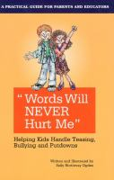 """""""Words Will Never Hurt Me"""""""