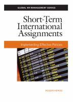 Short-term International Assignments