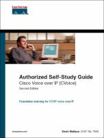 Authorized Self-study Guide, Cisco Voice Over IP (CVoice)