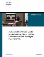Implementing Cisco Unified Communications Manager