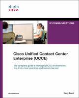 Cisco Unified Contact Center Enterprise (UCCE)