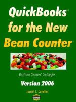 QuickBooks for the New Bean Counter