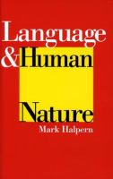 Language and Human Nature