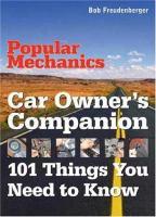 Popular Mechanics Car Owner's Companion