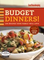 Budget Dinners!