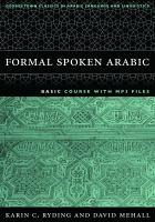 Formal Spoken Arabic