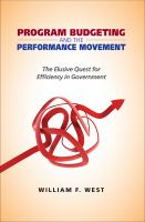 Program Budgeting and the Performance Movement