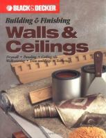 Building & Finishing Walls & Ceilings