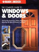 The Complete Guide to Windows & Doors