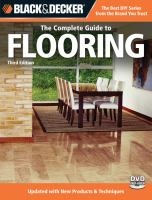 Black & Decker, the Complete Guide to Flooring