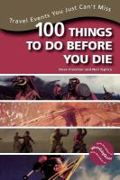100 Things to Do Before You Die
