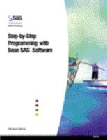 Step-by-step Programming With Base SAS Software