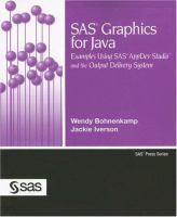 SAS Graphics for Java