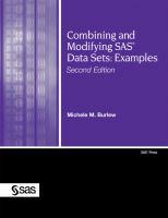 Combining and Modifying SAS Data Sets