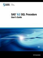 SAS 9.2 SQL Procedure