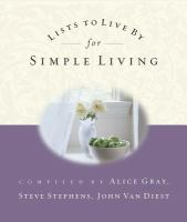 Lists to Live by for Simple Living