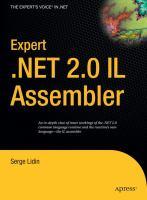 Expert .NET 2.0 IL Assembler