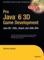 Pro Java 6 3D Game Development