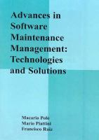 Advances in Software Maintenance Management