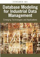 Database Modeling for Industrial Data Management