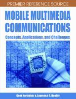 Mobile Multimedia Communications