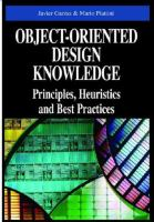 Object-oriented Design Knowledge