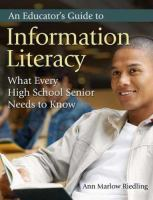 An Educator's Guide to Information Literacy