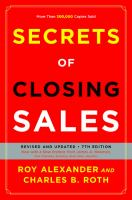 Secrets of Closing Sales