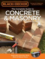 The Complete Guide to Concrete and Masonry