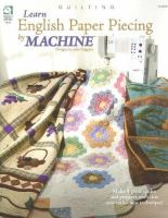 Learn English Paper Piecing by Machine