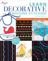 Learn Decorative Machine Stitching