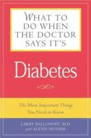 What to Do When the Doctor Says It's Diabetes
