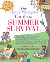 The Family Manager's Guide to Summer Survival