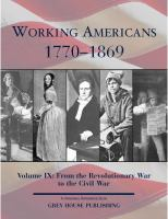 Working Americans, 1770-1869