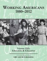 Working Americans, 1880-2012
