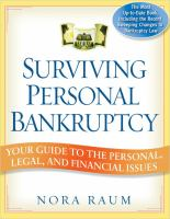 Surviving Personal Bankruptcy