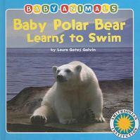 Baby Polar Bear Learns to Swim