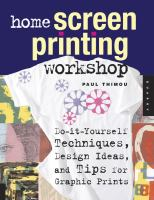 Home Screen Printing Workshop