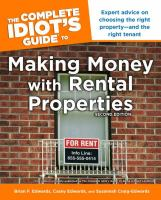 The Complete Idiot's Guide to Making Money With Rental Properties