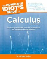 The Complete Idiot's Guide to Calculus
