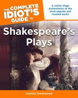 The Complete Idiot's Guide to Shakespeare's Plays