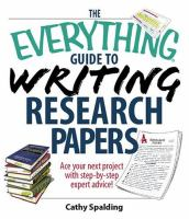 The Everything Guide to Writing Research Papers