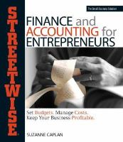 Streetwise Finance and Accounting for Entrepreneurs